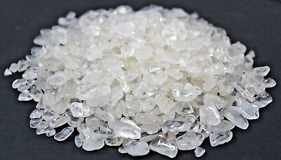 Bulk 1 lb Loose Clear Quartz Semi Tumbled Stones Chips Mini Crystal 5 - 15 - 1 Lb Tumbled Stones