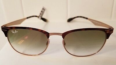 e7752b45f0e1a RAY BAN RB3538 Tortoise   Copper Metal Frame Green Gradient Sunglasses NIB   188+