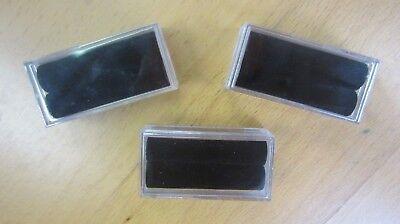 10pcs Acrylic Rectangle Gem Jars Box Gemstones Black Foam 1 X 2 With Gems Coin