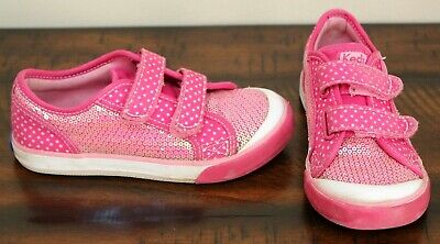 Keds PINK SEQUIN SNEAKERS sz 11.5 Girls Shoes Star covid 19 (Keds Childrens Shoes coronavirus)