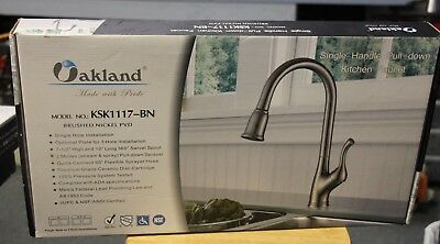 Single Handle Pull-Down Kitchen Faucet- KSK1117BN •Free Shipping•
