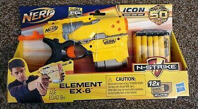 New NERF ICON Series Element EX 6 Blaster
