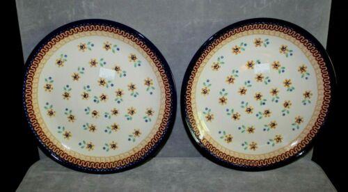 "Set of 2 Boleslawiec Ceramika Artystyczna Polish Pottery Plates 10.5"""