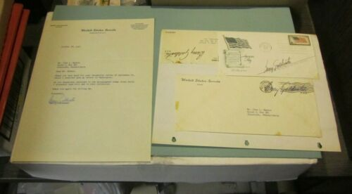 1957 Arizona Senator Barry Goldwater Autograph Signed Letter and First Day Cover