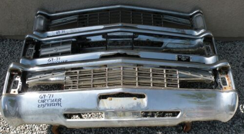 X Chrysler Imperial New Triple Plated Chrome Front Bumper 1969-1971 69-71 Oem
