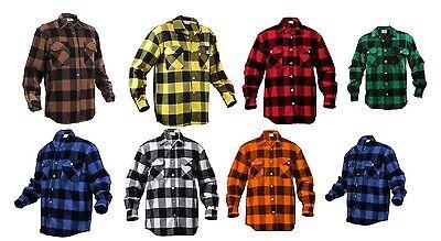 Buffalo Plaid Flannel - Extra Heavyweight Brawny Buffalo Plaid Flannel Shirt Long Sleeve All Sizes