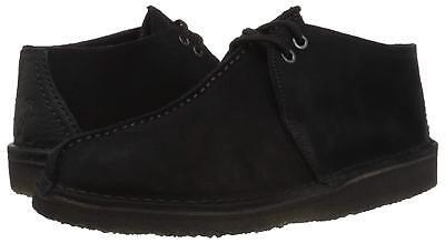 Men's Shoes Clarks DESERT TREK Suede Lace Up Boots 38667 BLACK *New* Clark Shoes For Men