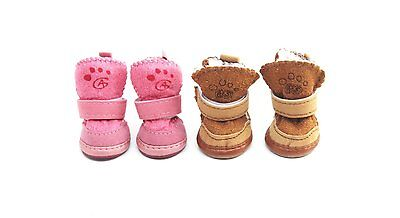 Cute Warm Winter Pet Dog Boots Puppy Shoes Protective Anti-slip Apparel