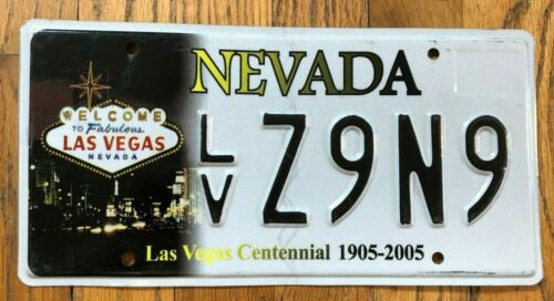 Embossed Las Vegas Nevada Centennial License Plate