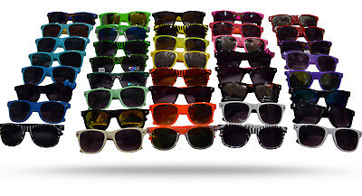Neon Wayfarer Sunglasses (New Unisex 6 Pack 80's Retro Neon wayfare Sunglasses Combo 6 color Wholesale)