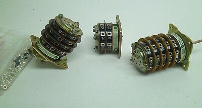 Lot Of 3 Electroswitch Series 31 Rotary Control Switches See Photos And Info Rc