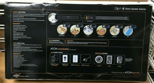 ATON DLA6 6 Rooms Speaker Selector ( new)