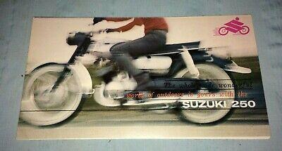 Suzuki 250 Motorcycle Advertising Brochure Poster VTG Ephemera Printed in JAPAN