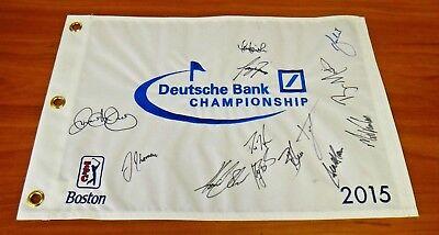 2015 Boston Deutsche Bank Golf Pin Flag Signed By 13 Jsa Psa Guarantee