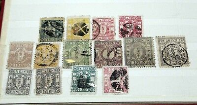 X Japan 1870s/1940s: Large accumulation in a stockbook from a German estate