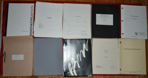 37) Movie Script Lot #1 Unproduced and Produced Rare Screenplays The Mummy