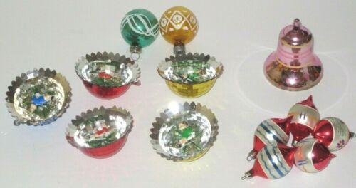Vintage Jewel Brite Diorama and Other Vintage Ornaments