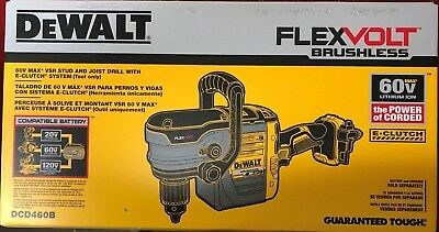 Dewalt Dcd460b 60 Volt Vsr Stud And Joist Drill W E-clutch New In Box