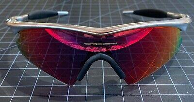 Oakley Pro M Frame Sunglasses FMJ Chrome Sweep Positive Red Iridium Vintage RARE
