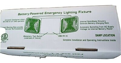 Pack Of 10 Battery Powered Led Emergency Lighting Fixture With White Housing