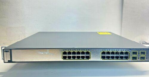 Cisco WS-C3750G-24PS-S - 24 Port PoE 3750G Gigabit Switch @AR523