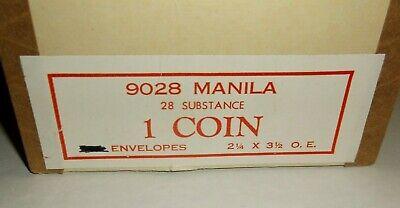 50 Ct. Kraft Manila Coin Envelope 2-14 X 3-12 Small Storage Paper Craft