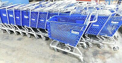 Sears Groceryshopping Carts With Basket Steelmetal Blue Excellent Condition