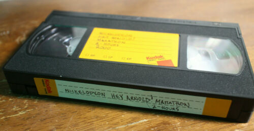 RARE Nickelodeon 2000 Hey Arnold! Marathon VHS Tape 2-Hours Blank w/ Commercials
