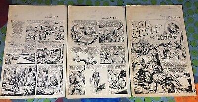 BOB SWIFT #1 art COMPLETE 15 PG story SPORTSMAN HUNT BIG HORN SHEEP MOLDOFF 1951