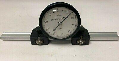 Brown Sharpe Dial Indicator 7040 .001 Horizontal Type With Base