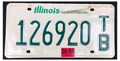 Illinois 2004 LIGHT TRAILER License Plate 126920 T/B! for sale  Pawnee