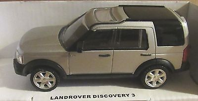 RASTAR LAND ROVER DISCOVERY 3  SILVER 1:43 SCALE DIECAST MODEL CAR TOY 4X4 AUTO
