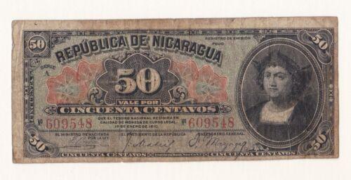 1910 Nicaragua 50 Centavos.
