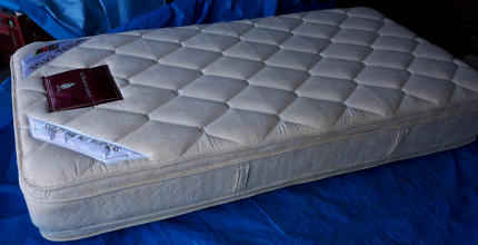 king single mattress with bed head plus new mattress protector
