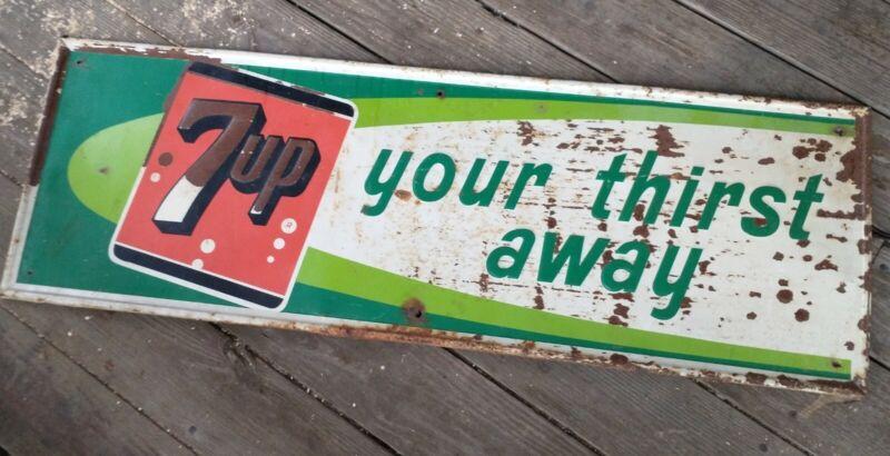 1960s 7up Stout Soda Sign