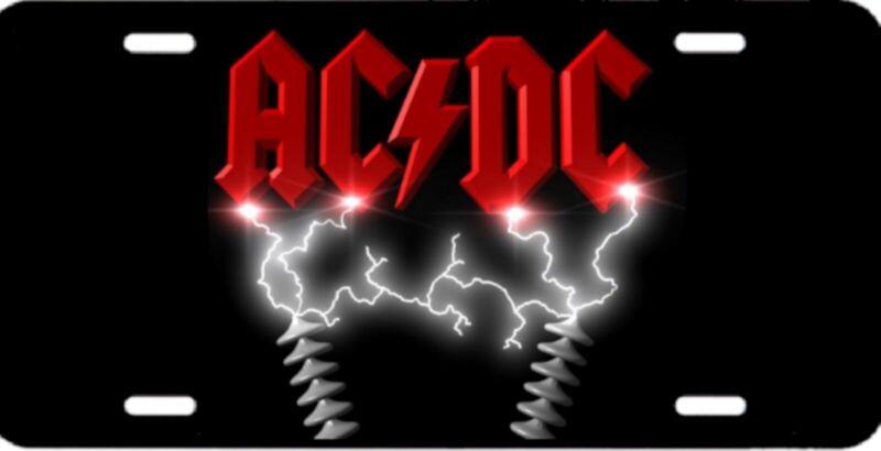 AC/DC AC DC High Voltage Color Logo License Plate 12x6 HIGH QUALITY ALUMINUM NEW