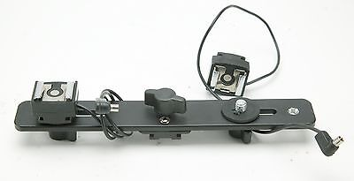 Cheetah Two Flashes Mini Bracket (Mount) With Two Hot Shoe Adapters. Ex.