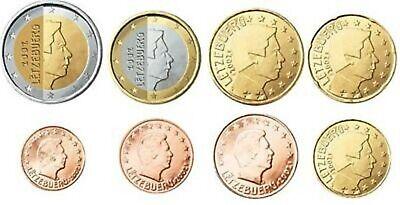 Luxemburg serie 2008  unc (1ct- 2 euro)