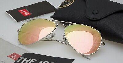 New RayBan Aviator Sunglasses rose gold  color 003/32 Mirror58mm (Mirrored Aviator Sunglasses Rose Gold)