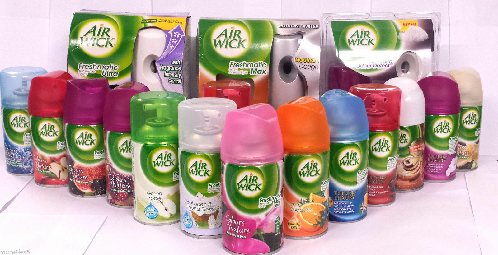 6 Pack Air Wick Freshmatic Ultra Refills Automatic Spray Fra