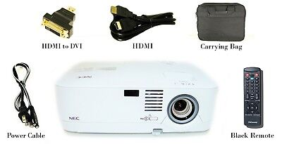 NEC NP500 Refurbished - LCD Projector 3000 Lm HD 1080i HDMI-Adapter +Bag, Remote
