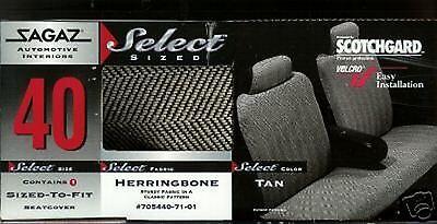 60-69 FORD FALCON CAR SEAT COVERS SPLIT BACK FULL BENCH HERRINGBONE TAN