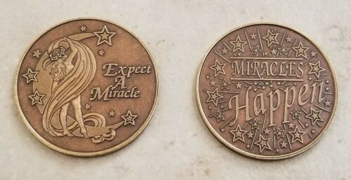 Recovery coins Expect a Miracle Medallion Tokens Sobriety Birthday