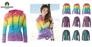 Weatherproof-Ladies-TIE-DYE-Hooded-Pullover-Fleece-Sweatshirt-S-2XL-hoodie-W1162