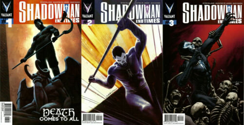 VALIANT COMICS - SHADOWMAN END TIMES 1 2 3 - BRAND NEW - XO MANOWAR