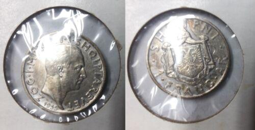 1935 Albania Silver Frang Ar- Nice