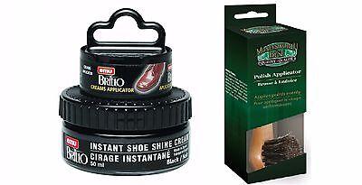 Moneysworth and Best Instant Shoe Shine Cream Kit- black , with dauber brush