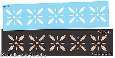 Joanie Stencil Colonial Starburst Diamond Flower Folk Art Country French -