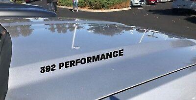 392 Performance Hood Decal Dodge Challenger Charger HEMI Scat Pack V8 SRT Black