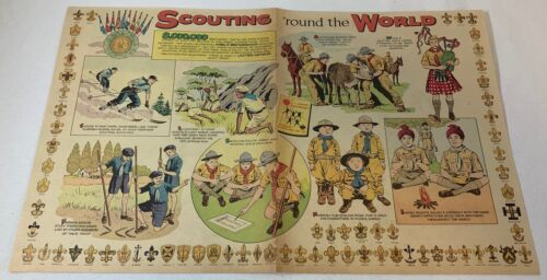1958 two page cartoon ~ Boy Scouts SCOUTING